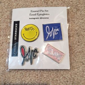 Other - NWT Starbucks Enamel Collector's Pins Set Love